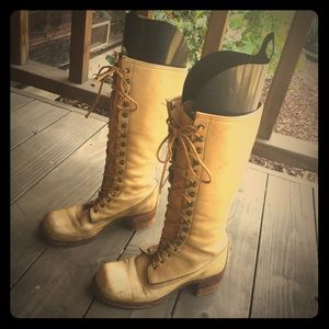 Frye Lace-up 👢 Vintage Boots 👢 :  circa 1970
